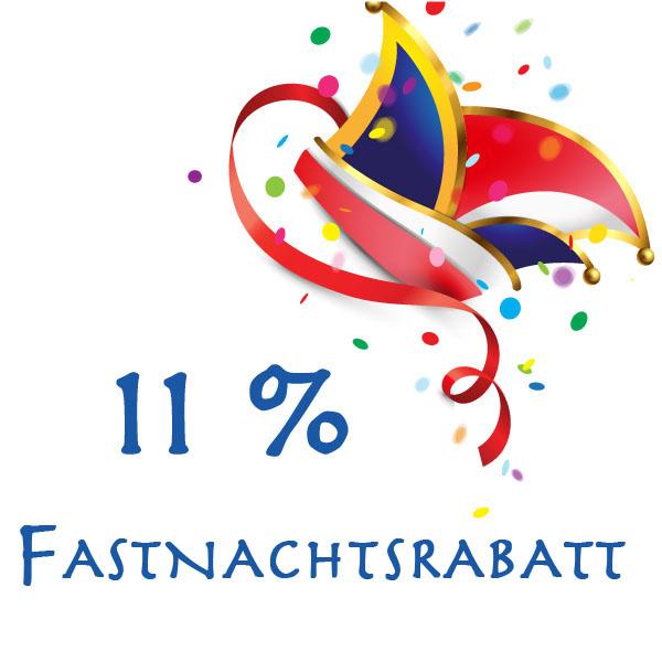 11% Fastnachtsrabatt